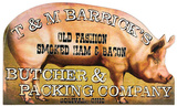 Butcher Shop Advertising Die Cut Wood Sign