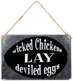 Wicked Chicks Sign Plaque en métal