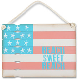 Beach Sweet Beach Flag Wood Sign