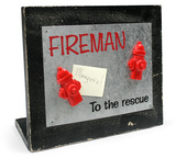 To The Rescue Memo Board Wood Sign