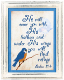 You Will Find Refuge Stitchery Wood Sign