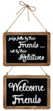 Two Sided Friends Chalkboard Wood Sign