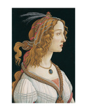Idealized Portrait of a Lady (Portrait of Simonetta Vespucci as Nymph), 1480 Kunst af Sandro Botticelli