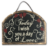 Wish You Love Slate Wall Sign