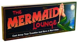 Mermaid Lounge Block Wood Sign