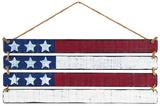 Slatted American Flag Wood Sign