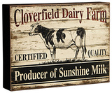 Dairy Farm Advertising Sign Wood Sign