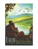 Tierra Lámina por Vintage Reproduction