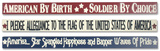 Patriotic Engraved Blocks - Set of 3 Wood Sign