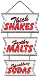 Retro Soda Fountain Sign Tin Sign