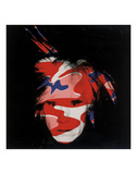 Self-Portrait, 1986 (red, white and blue camo) Art by Andy Warhol
