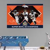 NFL Denver Broncos Super Bowl 50 Champs Montage RealBig Mural Bildetapet