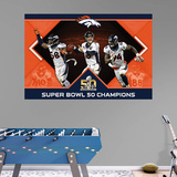 NFL Denver Broncos Super Bowl 50 Champs Montage RealBig Mural Wall Mural