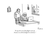 """It says the cost of the flight went up because we acknowledged its existe... - New Yorker Cartoon Giclee Print by Zachary Kanin"