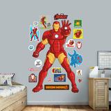 Marvel Avengers Assemble Kids Iron Man RealBig - Duvar Çıkartması
