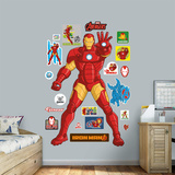 Marvel Avengers Assemble Kids Iron Man RealBig Wall Decal