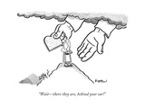 """""""Wait—there they are, behind your ear!"""" - New Yorker Cartoon Giclee Print by Robert Leighton"""