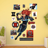 Marvel Avengers Assemble Black Widow RealBig Wall Decal