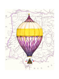 Vintage Purple Air Balloon Kunstdruck von Hope Smith