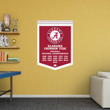 NCAA Alabama Crimson Tide 2015 Football Champions Banner RealBig Wall Decal