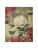 Peony and Butterfly Plakater af Lisa Audit