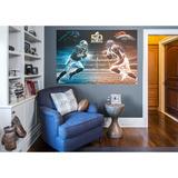 NFL Super Bowl 50 Cam Newton-Von Miller Collision Course RealBig Mural Malowidło ścienne