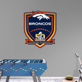 NFL Denver Broncos Super Bowl 50 Champs RealBig Logo Wall Decal