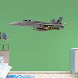 Boeing Navy F-18 Hornet RealBig Wall Decal