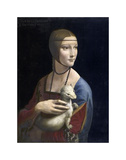 The Lady with an Ermine, ca. 1490 Print by Leonardo Da Vinci