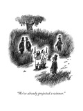"""We've already projected a winner."" - New Yorker Cartoon Premium Giclee Print by Frank Cotham"