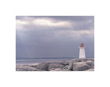 Lighthouse, Nova Scotia Poster af Art Wolfe