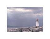 Leuchtturm, Nova Scotia Kunstdruck von Art Wolfe