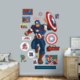 Marvel Avengers Assemble Kids Captain America RealBig Wall Decal