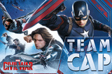 Captain America Civil War- Team Cap In Action Poster