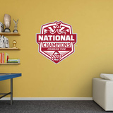 NCAA Alabama Crimson Tide 2015 CFP National Champions RealBig Logo Wallstickers