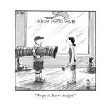 """We get it. You're straight."" - New Yorker Cartoon Premium Giclee Print by Harry Bliss"