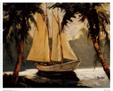 Sailboat, Santa Barbara Prints by Frederick Pawla