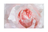 Rose Closeup in Low Poly Style Posters by  lamyai