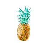 Low Poly Watercolor Pineapple Posters by  lidiapuica