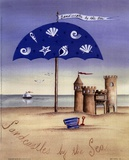 Sandcastles By The Sea Print by Katharine Gracey