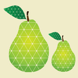 Pears Premium Giclee Print by  vectorizer88