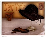 New York Hat Posters by Judy Mandolf