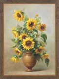 Sunflowers In Bronze II Print by Welby