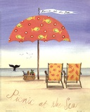 Picnic At The Sea Prints by Katharine Gracey
