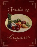 Fruits Et Legumes Poster by Catherine Jones