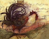Le Rooster III Art by Susan Winget