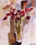 Red Calla Lilies Poster by Yona