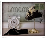 London Hat Posters by Judy Mandolf