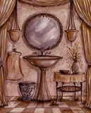 Charming Bathroom IV Poster by Kate McRostie