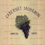 Cabernet Sauvignon Art by Katharine Gracey